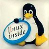 Linux Inside Case Badge (Blue)