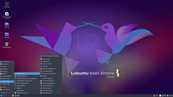 Lubuntu 19.10 for 64-Bit on DVD