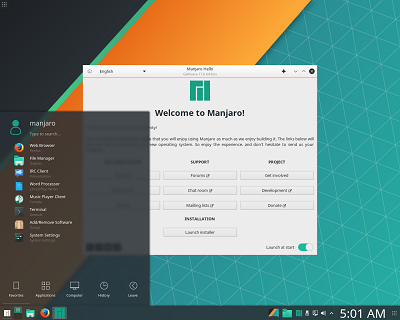 Manjaro Linux on USB