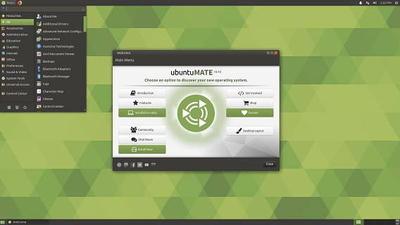 Ubuntu Linux MATE 19.10 on DVD