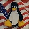 Linux Case Badge - USA Flag